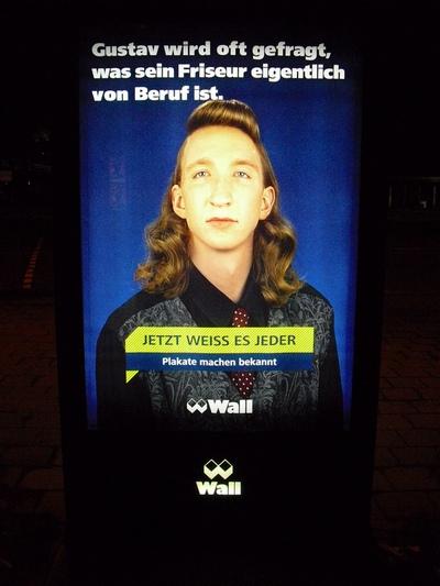 lustige Werbung Gustav Friseur Gustav wird oft gefragt, was sein Friseur eigentlich von Beruf ist