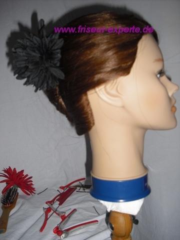 Banane-Steckfrisur-Accessoire-Hochsteckfrisur-schwarze Blume