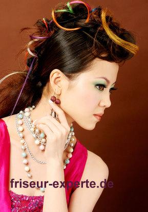 Asia Style Hochsteckfrisur mit Extensions