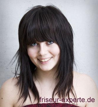Diese Peppige Und Jugendliche Frisur Ist Fuer Mittellange Haare Mit