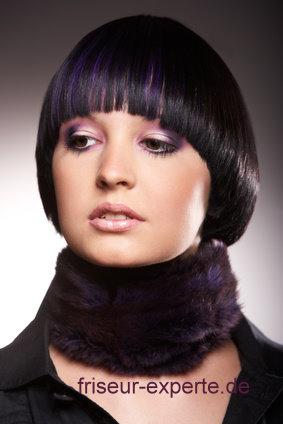 Toppfhaarschnitt Frisuren-Bild Bob schwarze Haare