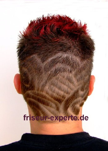 Haartattoo Hairtattoo Vorlage Muster Tatoos Hinterkopf Oberkopf lang Haartattoo Bilder Vorlage – Hinterkopf mit Hairtattoo – Oberkopf Haare lang