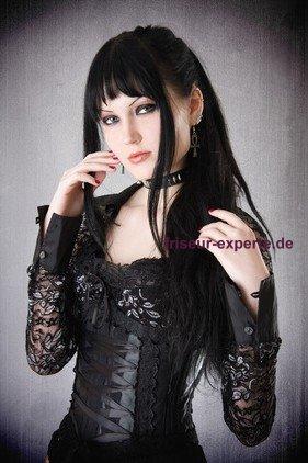 Gothic Style schwarz Frisuren Foto 2 Gothic Frisuren   Ein trendiger Auftritt für Frauen und Männer im Gothic Style
