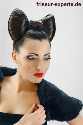 lady gaga schleife frisur minnie maus look Lady Gaga Schleife versus Minnie Maus Look   bow hair Frisur