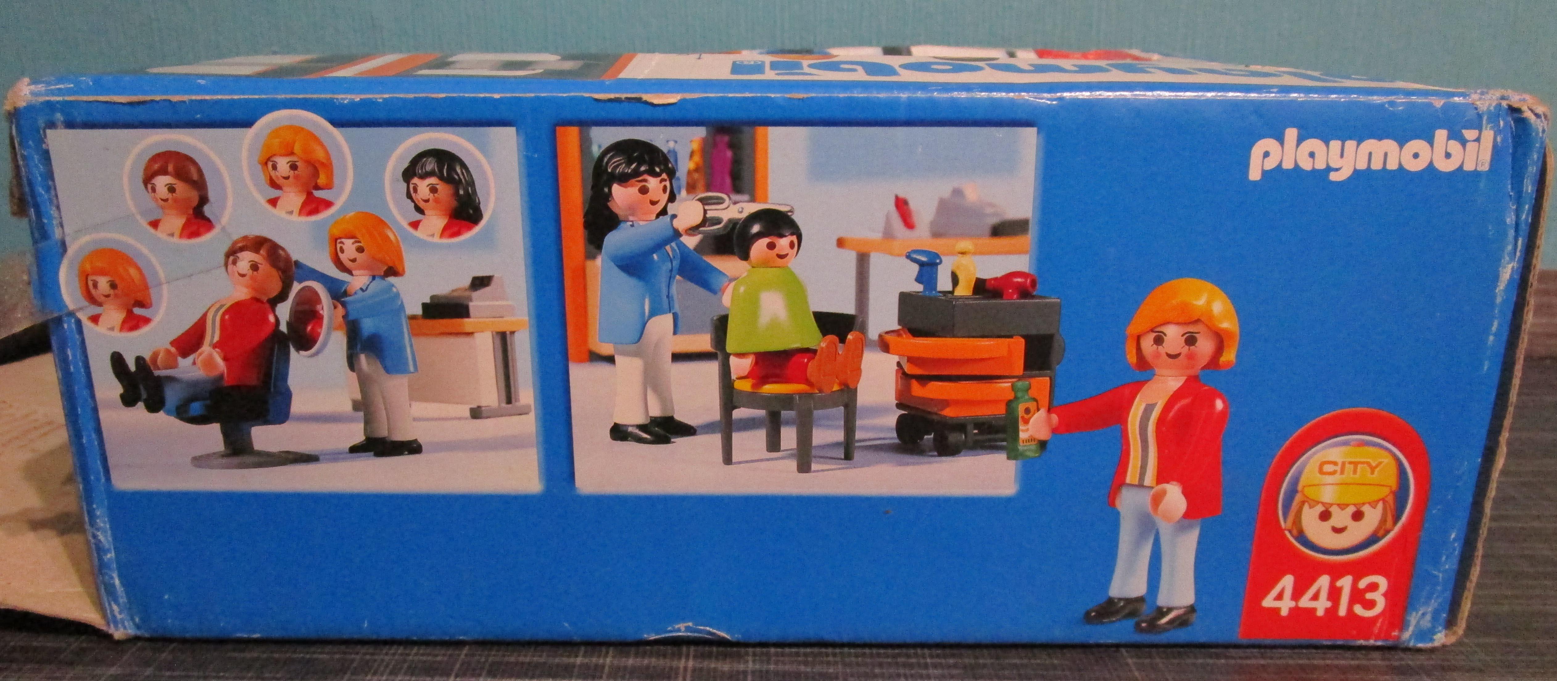 playmobil 4413 Friseur spielen Seite1 Playmobil Spielzeug im Vergleich: Friseursalon 4413 vs. Beauty Salon 5487   Rollenspiel Waschen, schneiden, fönen   bitte
